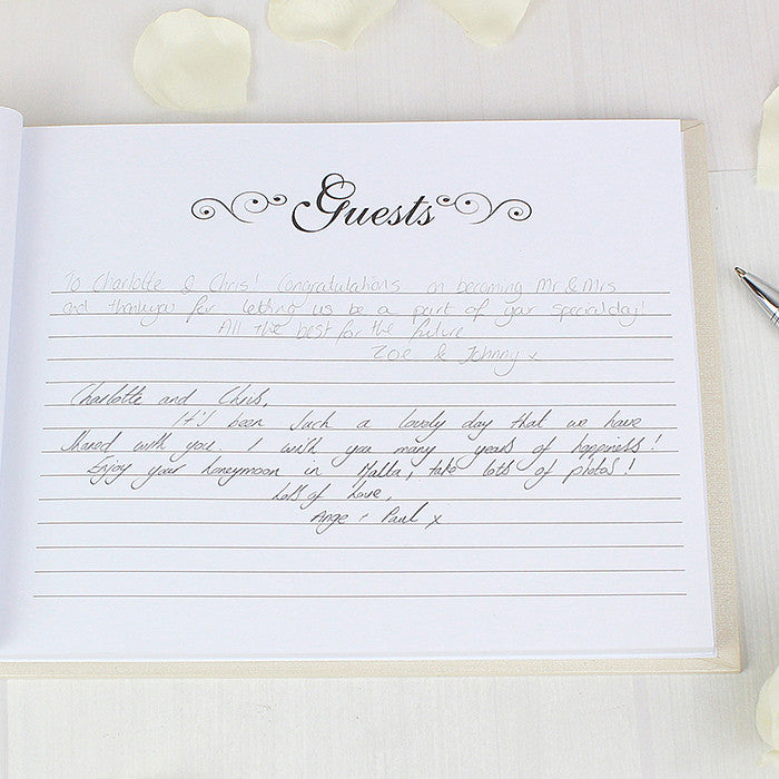 Hardback Guest Book with Swirl Design