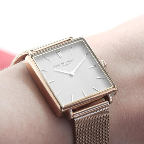 Personalised Elie Beaumont Bayswater Rose Gold Watch