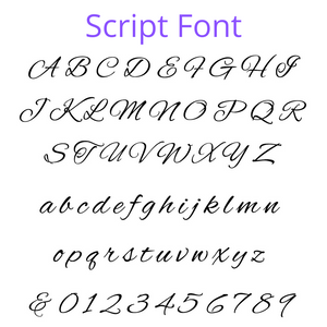 Script Engraved Font Option for Personalised Cross ATX Pen in Black
