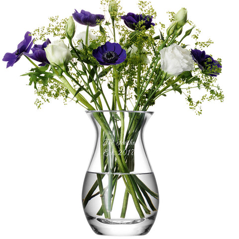 Engraved LSA International Posy Vase