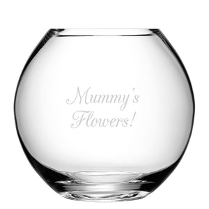Personalised LSA Glass Round Vase