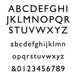 Font for Personalised Valet Tray