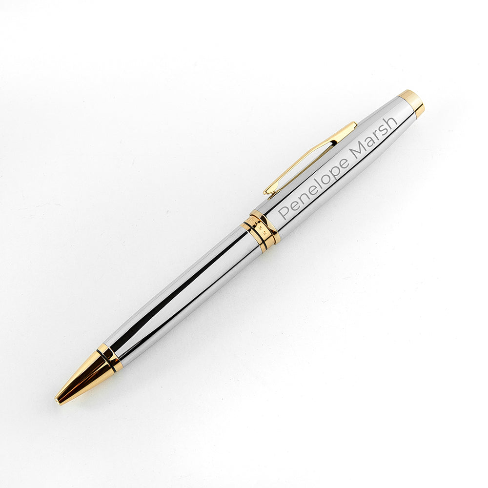 Engraved Cross Coventry Pen in Gold or Silver