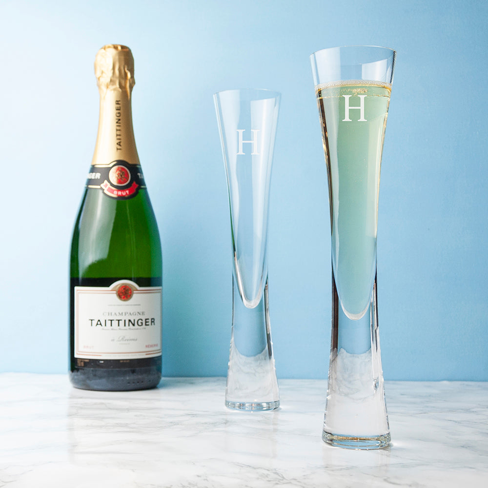 Personalised LSA Champagne Flutes