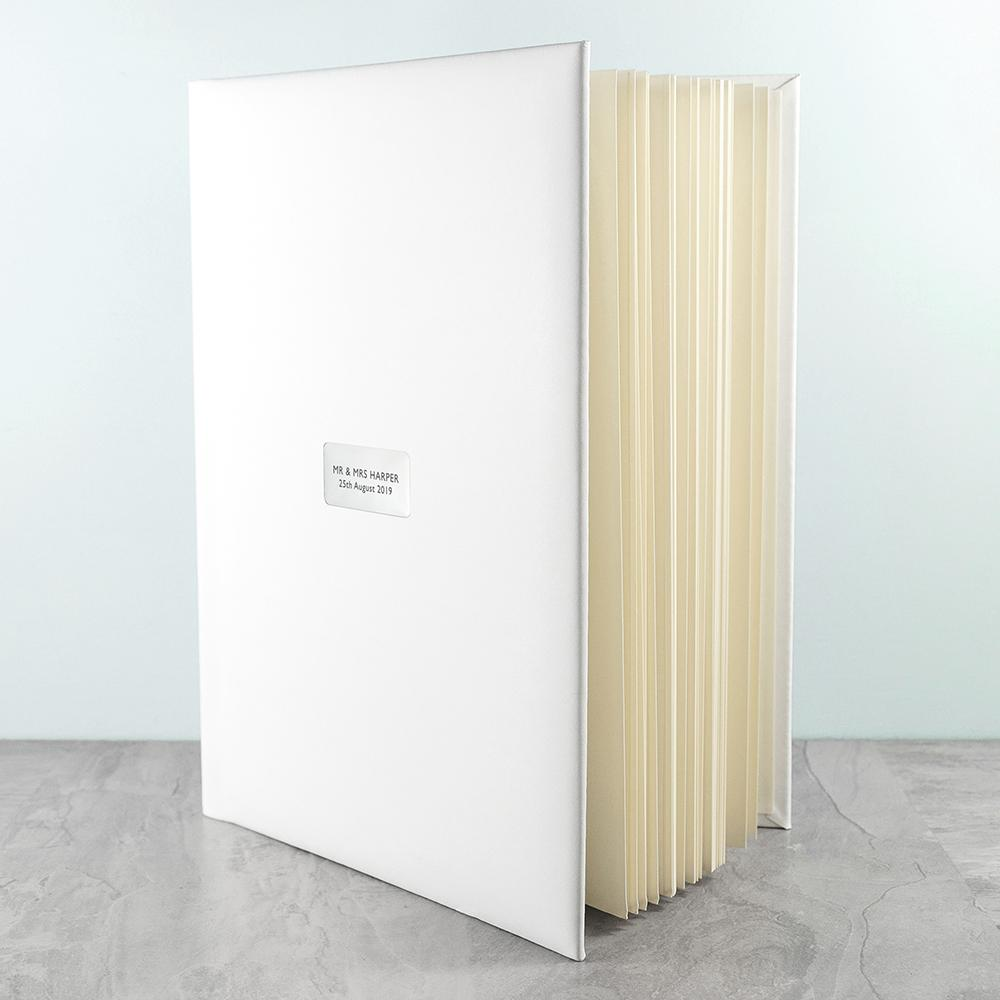 Large Personalised White Leather Photo Album