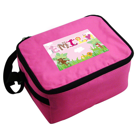 Pink Animal Alphabet Lunch Bag / Box