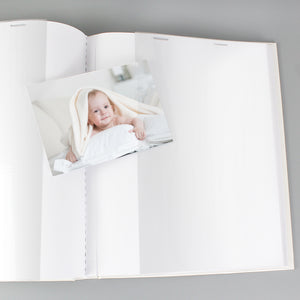 Internal image of our sleeved photo album which has 25 double-sided sleeved pages, each side can hold one or two photos depending on their size.