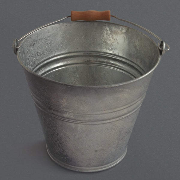 Bucket with Wooden Handle