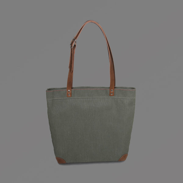 Small Canvas Tote Bag Green