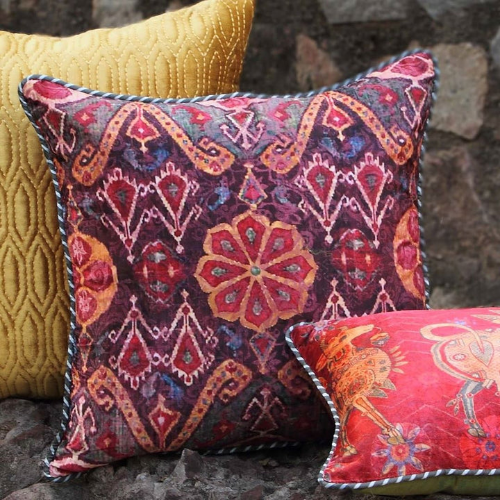 Ikat Anar Cushion Cover