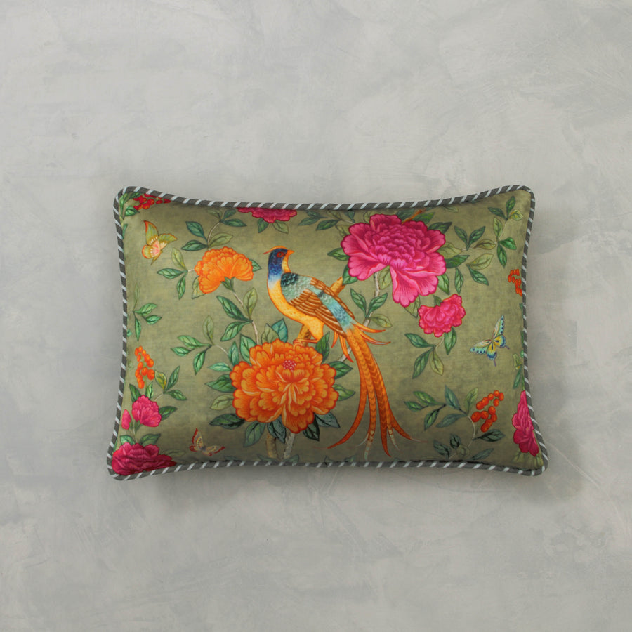 Serenade Cushion Cover - Olive Slim