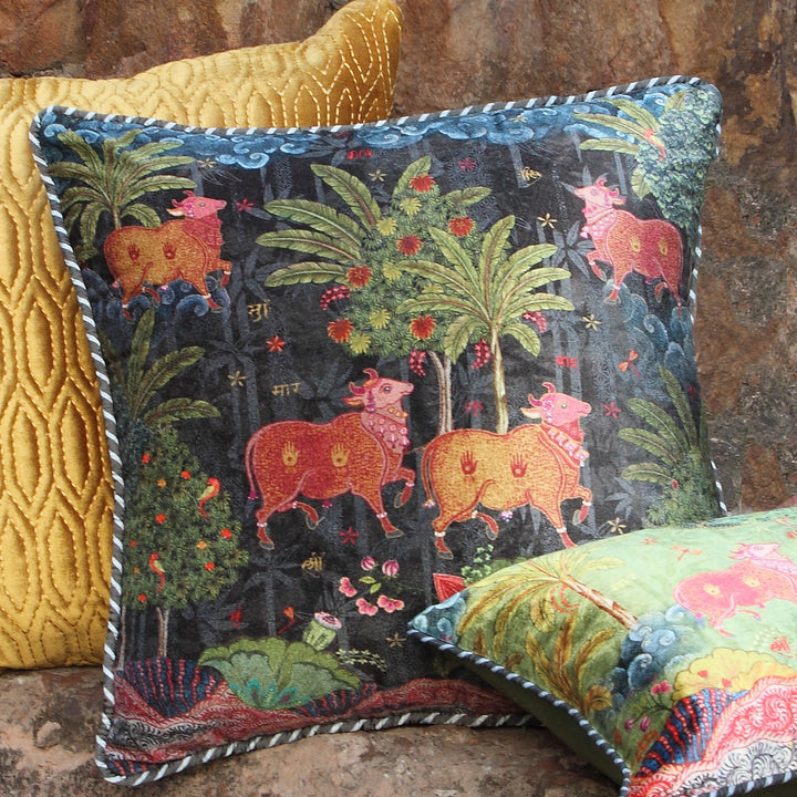 Anandi Cushion Cover - Umber