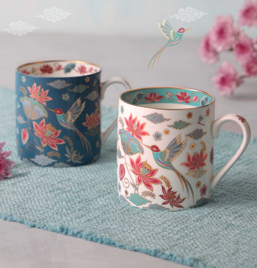 Padma Mug - Blue & White