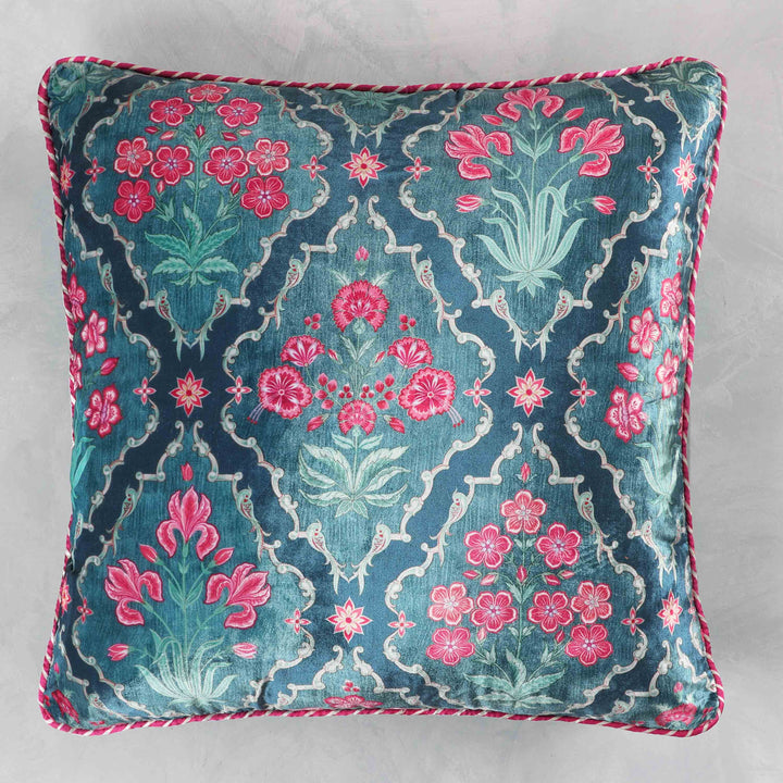 Gulzar Jaal Cushion Cover - Lapis Blue