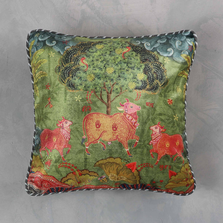Anandi Cushion Cover - Jade Small
