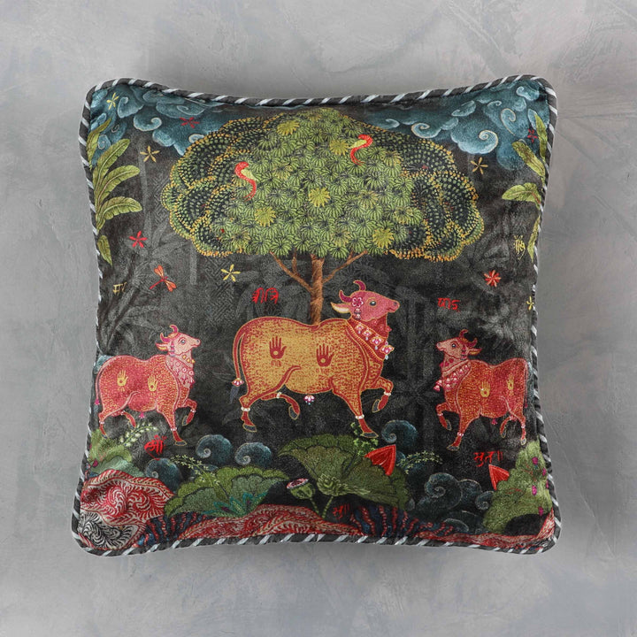 Anandi Cushion Cover - Umber Small