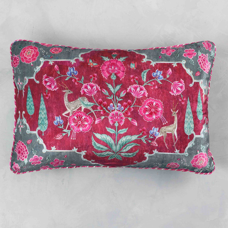 Gulzar Cushion Cover - Ruby Grey Slim