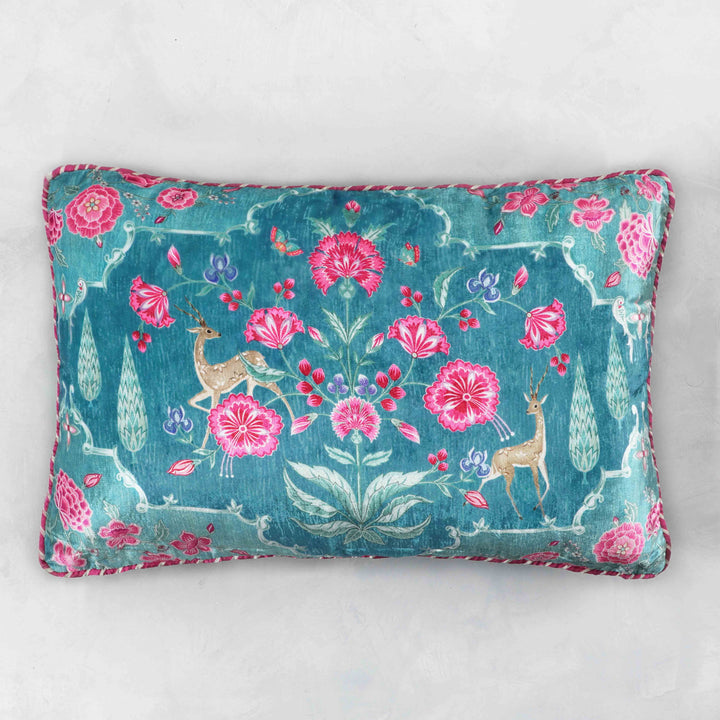 Gulzar Cushion Cover - Aqua Slim