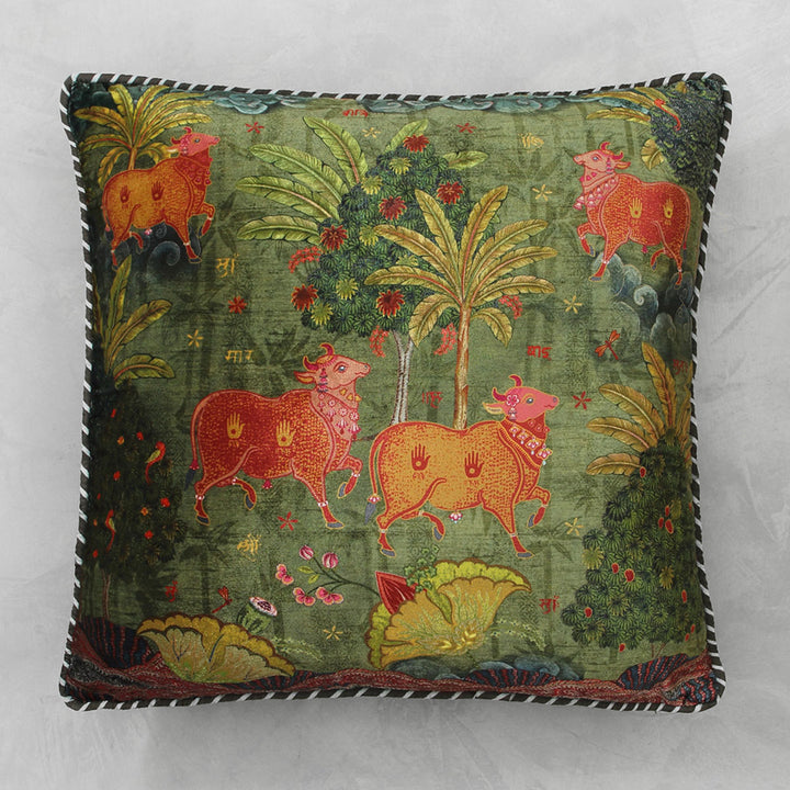 Anandi Cushion Cover - Jade