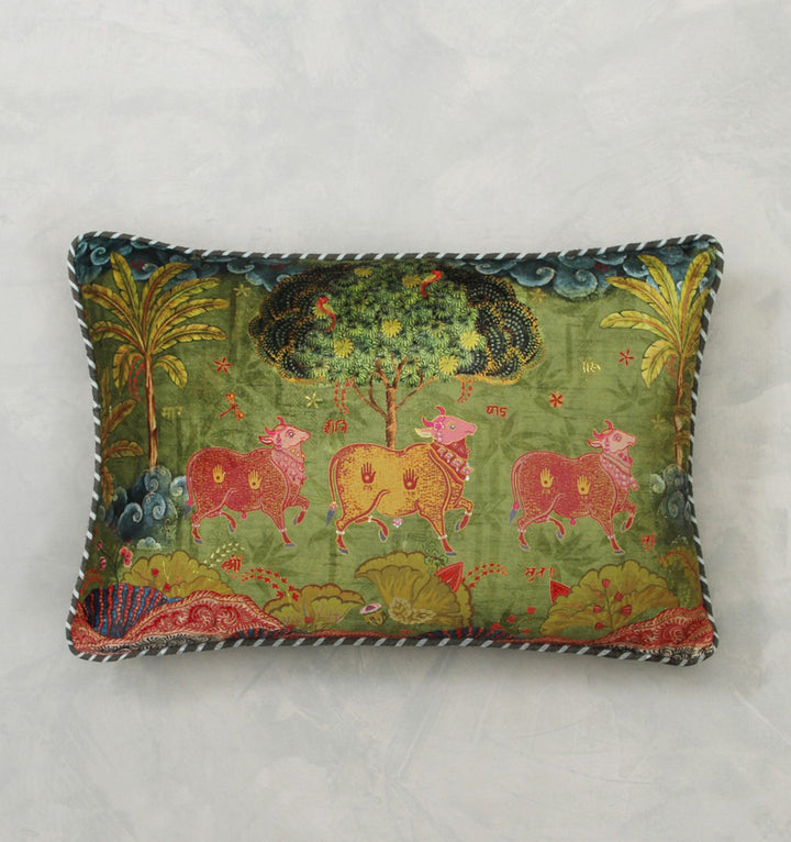 Anandi Cushion Cover - Jade Slim