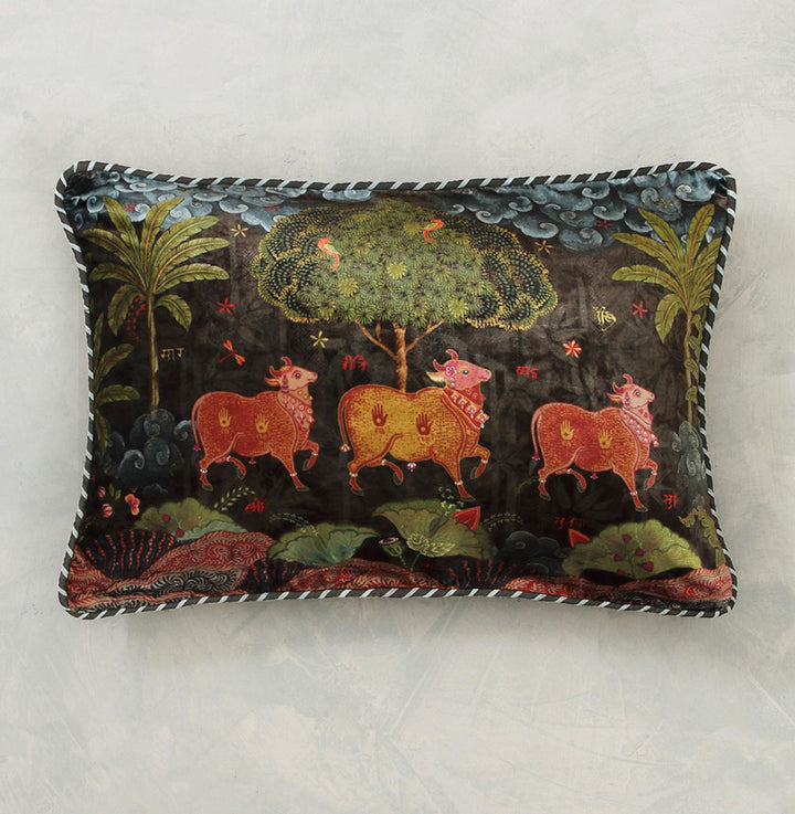 Anandi Cushion Cover - Umber Slim