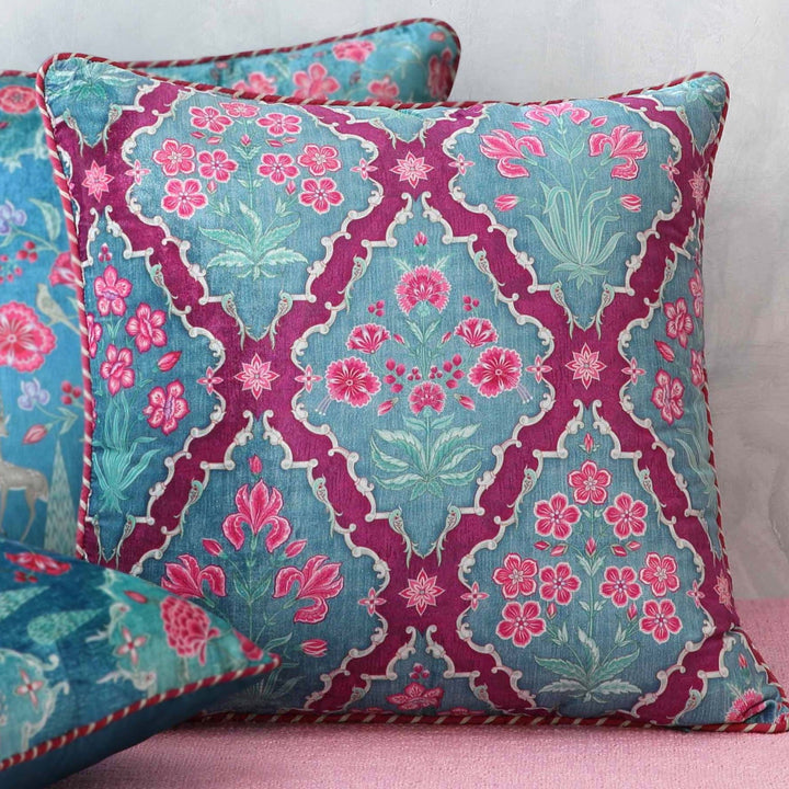 Gulzar Jaal Cushion Cover - Amethyst
