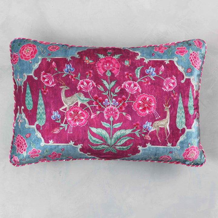 Gulzar Cushion Cover - Ruby Aqua Slim