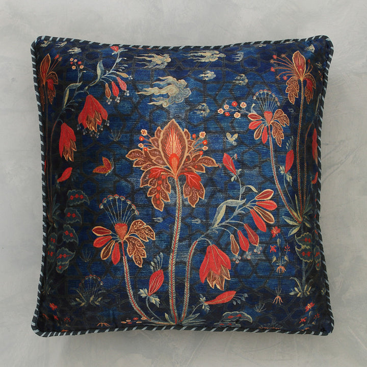 Isfahan Boota Cushion Cover - Blue
