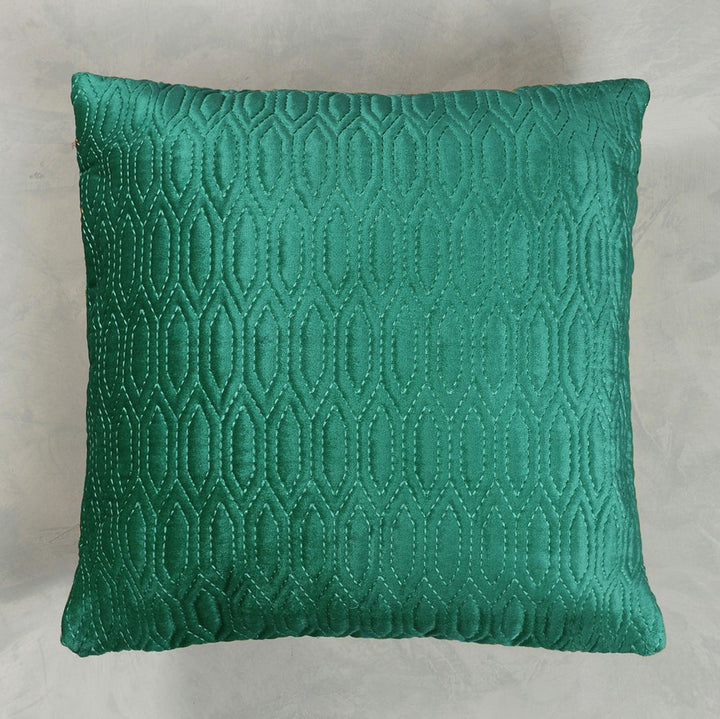 Jaal Embroidered Cushion Cover - Aqua