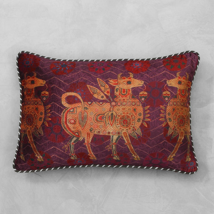 Ishtar Cushion Cover - Burgundy Slim