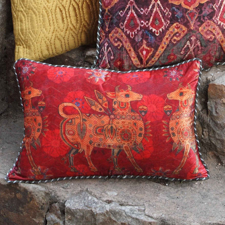 Ishtar Cushion Cover - Red Slim