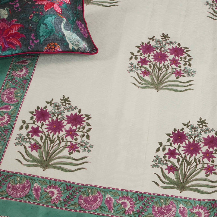 Gulbagh Cotton Pique Bedcover