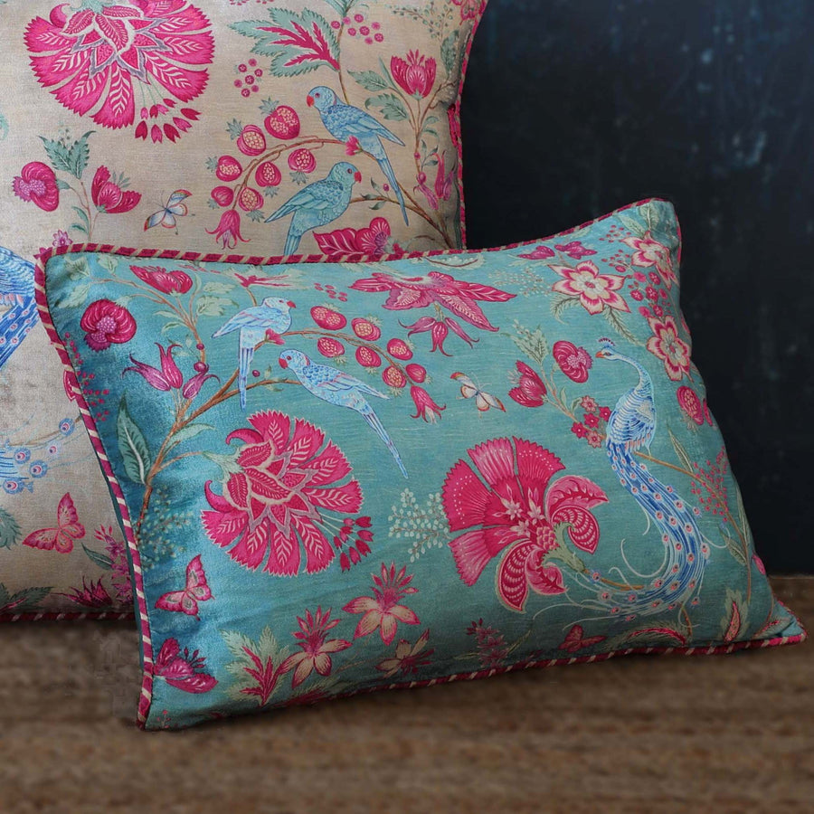 Kanha Cushion Cover - Aqua Slim