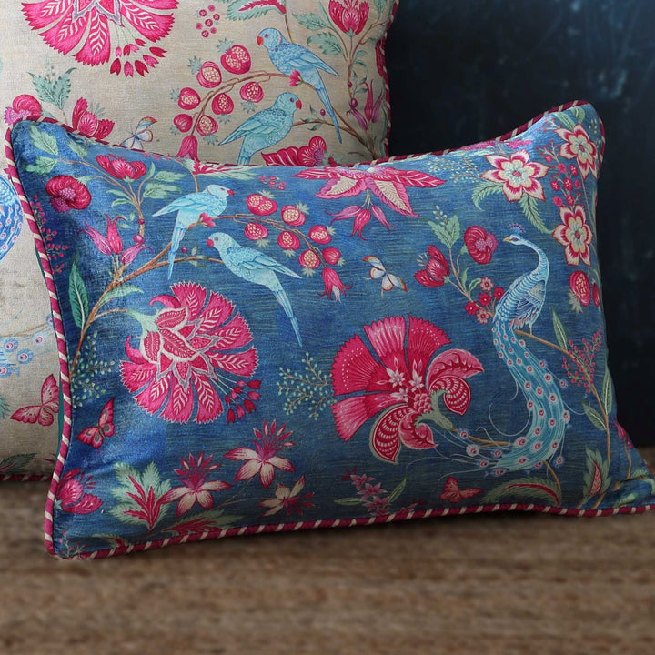 Kanha Cushion Cover - Blue Slim