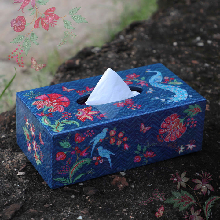 Kanha Tissue Box Holder - Blue