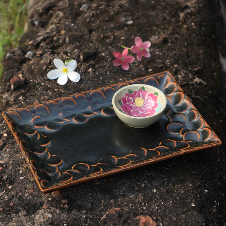 Champa Rectangle Platter - Umber
