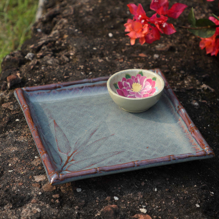 Forest Leaf Platter - Square
