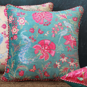 Kanha Cushion Cover - Aqua