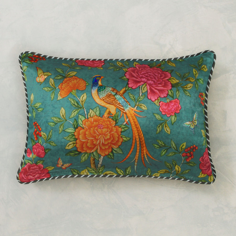Serenade Cushion Cover - Teal Slim
