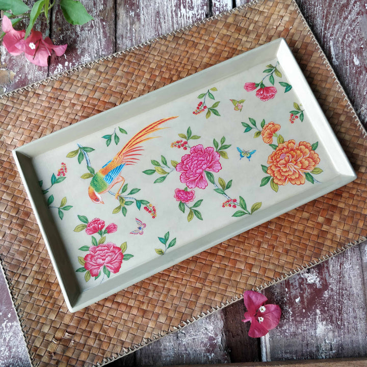Serenade Enamel Tray - Cream Slim