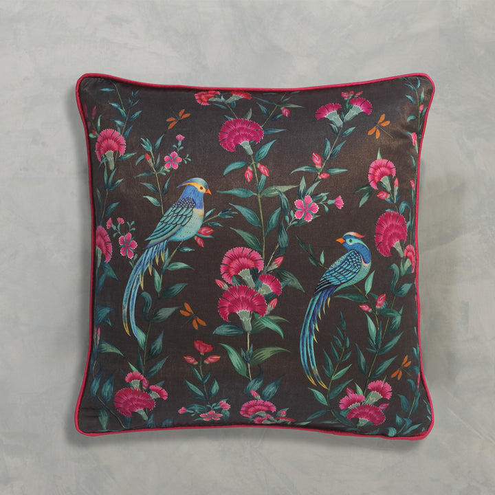 Songbird Charcoal Cushion Cover