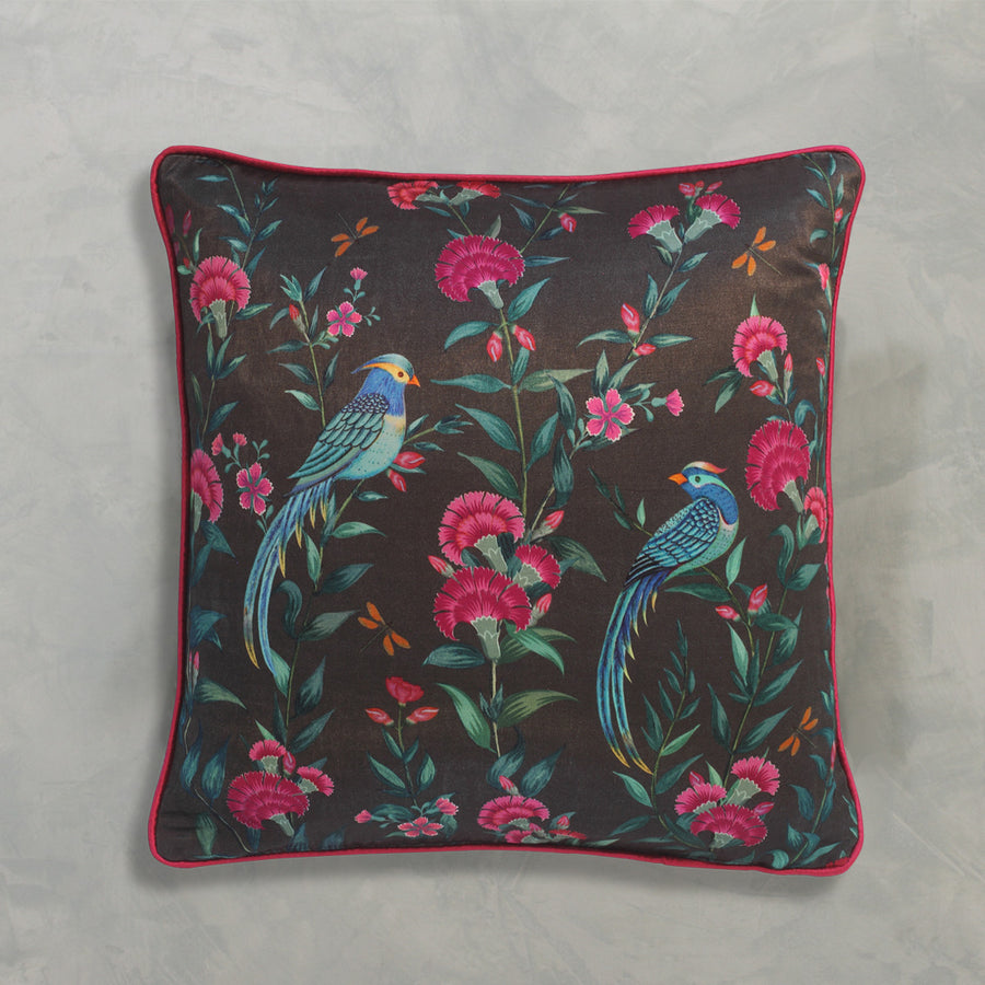 Songbird Cushion Cover - Charcoal