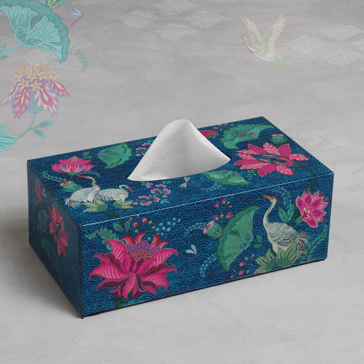 Taashi Tissue Box Holder - Aqua