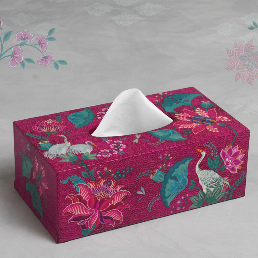 Taashi Tissue Box Holder - Ruby