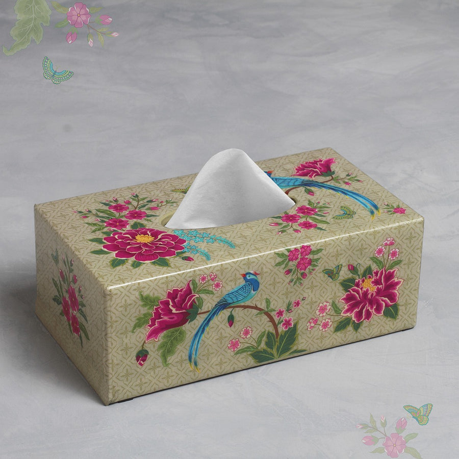 Opium Tissue Box Holder - Cream