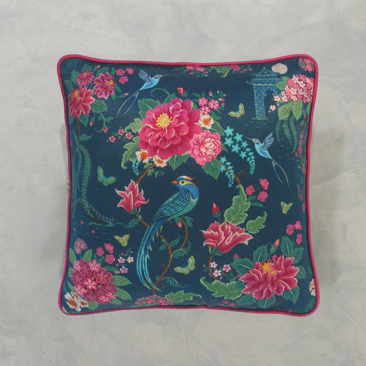 Opium Cushion Cover - Blue