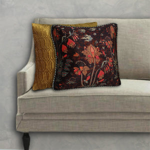 Isfahan Boota Cushion Cover - Brown