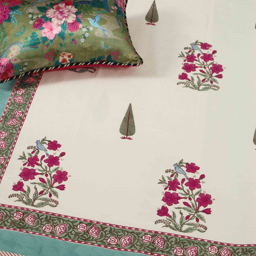 Chinarbagh Cotton Pique Bedcover