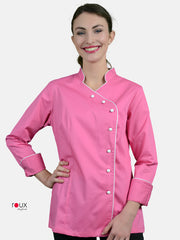 Women's Chef Jacket Pink Cara
