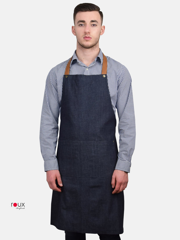 Denim Bib Apron Ava